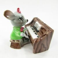 Vintage Salt Pepper Shaker Set Anthropomorphic Mouse playing Piano Japan  INV290