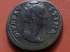 FAUSTINA Senior, died A.D.141, SESTERTIUS.. Rev Aeternitas standing left.. aVF