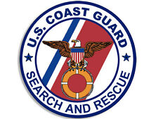 4x4 in Round Coast Guard SEARCH and RESCUE Seal Sticker - military logo insignia