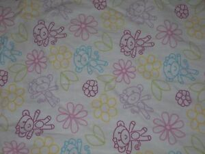 Kidsline Little MissMatched Monkey Monkeys Fitted Crib Sheet {Sold as Fabric}