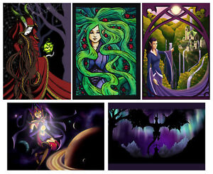 FallenFantasyArt PAGAN Magical ELF Fairy D&D FANTASY LoR GREETING card Mythical