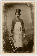 William Poole BILL THE BUTCHER 1850 Cabinet Card Vintage CDV A+ Pro Restore