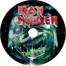 IRON MAIDEN BASS & GUITAR TAB TABLATURE CD BEST OF GREATEST ROCK HITS METAL SONG