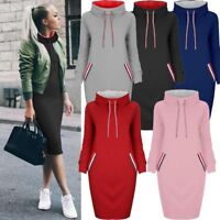 Women Casual Sweatshirt Long Sleeve Pullover Jumper Sweater Tops Winter Dress