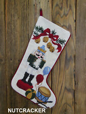 Nutcracker New Needlepoint Christmas Stocking with Embroidery Included