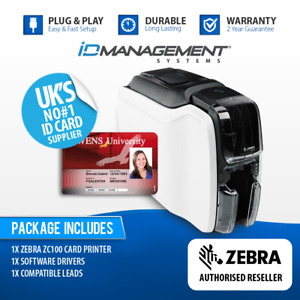 Zebra ZC100 Single-Sided ID Card Printer • Free UK Delivery