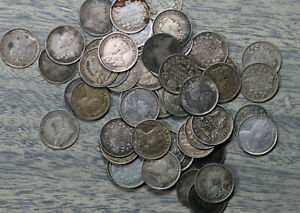 Lot of 51 Canada King Edward/King George 5 Cent Silver Coins - 1902-1920
