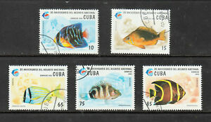 Fishes on Stamps 1995 set of 5v from Cub used/cto