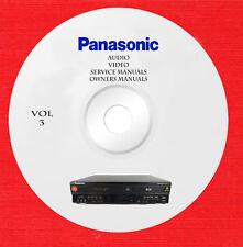 Panasonic Audio Video Repair Service owner manuals on dvd vol.3 of 5