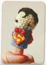 Crochet Pattern ~ Superman Finger Puppet Kids Toy ~ Instructions