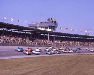 1964 Daytona 500 RICHARD PETTY and PAUL GOLDSMITH 8x10 Photo Start of Race