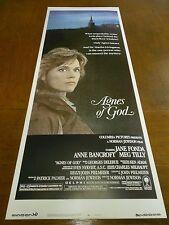 AGNES OF GOD(1985)JANE FONDA & ANNE BANCROFT ORIG INSERT POSTER.  NICE!