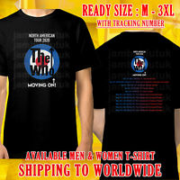 THE WHO MOVING ON TOUR DATES 2020 BLACK T-SHIRT SIZE M-3XL KLUTUK FREE