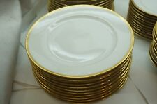 VINTAGE LIMOGES CHINA AHRENFELDT SET LUNCH DINNER PLATES 9.75in GOLD ENCRUSTED
