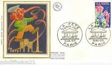 1976 - ENVELOPPE SOIE FDC 1°JOUR**/LA FETE - TIMBRE Yv.1888