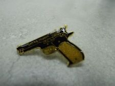 Military 38 Caliber Pistol Black and Gold Color Lapel/Hat Pin
