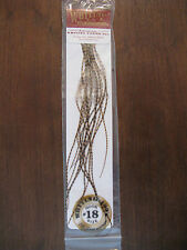 Fly Tying Whiting 100's Saddle Hackle Grizzly dyed March Brown sz #18