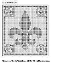 FLEUR - DE - LIS Filet Crochet Pattern
