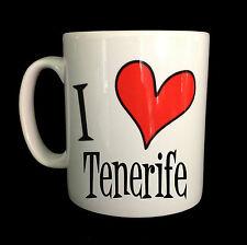 NEU 'I LIEBE HERZ TENERIFE GESCHENK TASSE BECHER SOUVENIR TOURISTEN URLAUB