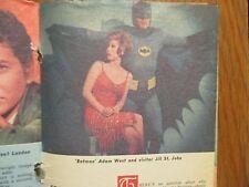 1966 Washington Evening Star TV Mag(BATMAN/ADAM  WEST/GAYE  HUSTON/MICHAEL  RYAN