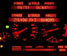 BMW 5er E38  Pixelfehler ? Display Tacho Kombiinstrument Reparatur