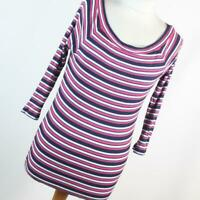 F&F Womens Size 10 Multi Coloured Striped Top