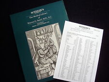CATALOGUE~SOTHEBY~THE MEDICAL LIBRARY OF WARREN G. SMIRL~1994~INCL. ESTIMATES