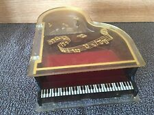 Vintage Clear Lucite Piano Music Box by Jokiwa/Sankyo Japan, 1960's