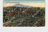PPC POSTCARD VA VIRGINIA ROANOKE HOTEL BIRDS EYE VIEW