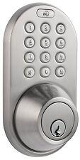 Keyless Security Deadbolt Door Lock Digital Touchpad Keypad Entry Satin Nickel