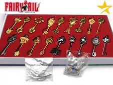 Set llaves Fairy Tail keys necklace keychain zodiaco zodiac