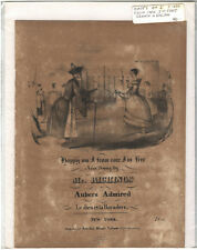 Rare Antique Original VTG c 1850 Happy Am I From Care I'm Free Sheet Music Print