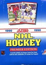 1990/91 SCORE BILINGUAL HOCKEY BOX