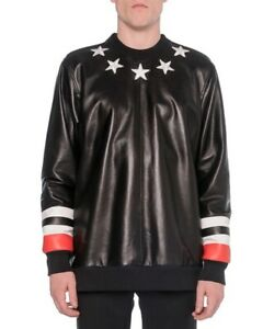 Givenchy Leather-Front Star Sweatshirt Black - S