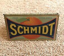 Vintage Schmidt Orange Advertising Sign, Two sided, counter top.