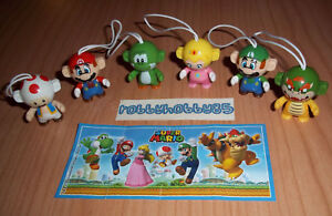 SUPER MARIO COMPLETE SET OF 6 WITH ALL PAPERS KINDER SURPRISE 2016