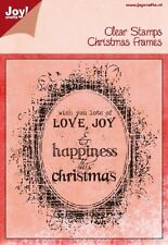 Joy Crafts Clear  Stamps Christmas Frames   6410/0115 Reduced