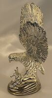 """Vintage Hampshire Genuine Solid Metal Silver Plated 5"""" Eagle Sculpture W/Talons"""