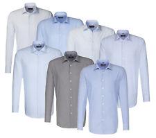 Seidensticker Herren Langarm Business Hemd Splendesto weiß blau grau Divers OVP