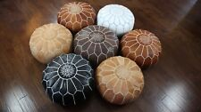 Rustic Genuine Leather Moroccan Pouf Poof Ottoman Footstool Footrest UNSTUFFED
