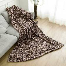 Fleece Blanket Reversible Thicken Plush Flannel Soft Warm Blanket JJ