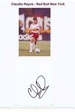 Claudio Reyna  Red Bull New York  30 x 20 cm Fußball Karte signiert 403154
