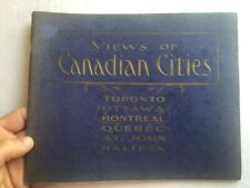 1905 Views of Canadian Cities Picture Book - Great Old Pictures!