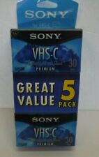 Sony VHS-C Camcorder Cassettes 30 Minute 5-Pack