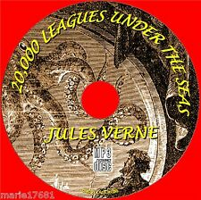 20000 Leagues Under Meere Jules Verne klassisch Sci-Fi Novel MP3 Hörbuch CD NEU