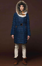 ** Down Coat Jacket Parka w/ Fox Fur sz XL / US 12 / EU 44 $895 NWT Пуховик Лиса