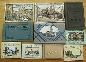 WW2 Era 10 Packs Of Postcards / Photographs Brought Back By Serving Soldier