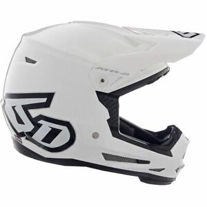 6D ATR-2Y Solid White Helmet Youth Large