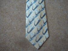 Tintin Tie - Snowy and the Crocodile from Tintin in the Congo - Gold - New