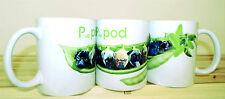 Pug Mug, 1 Pugs in Pea Pod Gift Mug Pug Pod Pug Faces as Peas, Birthday Gift